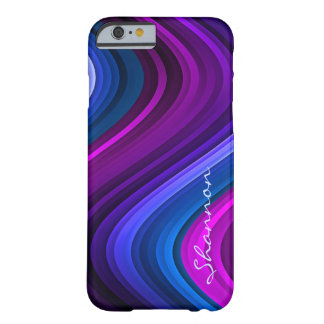 Custom Purple / Blue Abstract Waves iPhone 6 case