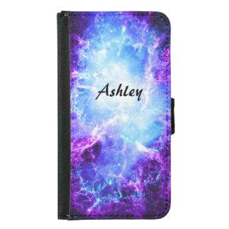 Custom Purple Blue Galaxy Galaxy S5 Wallet Case