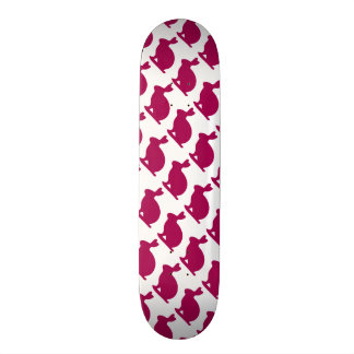 Custom Purple Bunny Rabbit Silhouette Skateboard Deck