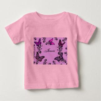 Custom Purple Butterflies Baby T-Shirt