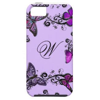 Custom Purple Butterflies iPhone 5 Cover