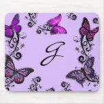 Custom Purple Butterflies Mouse Pad
