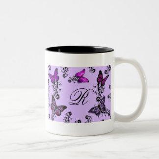 Custom Purple Butterflies Mug