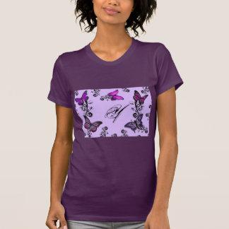 Custom Purple Butterflies T-Shirt