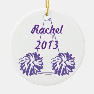 Custom Purple Cheerleading Ornament