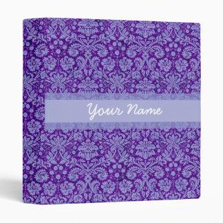 Custom Purple Damask Binder