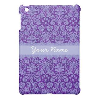 Custom Purple Damask Case For The iPad Mini