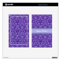 Custom Purple Damask Kindle Fire Decals