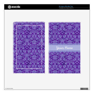Custom Purple Damask Kindle Fire Decals