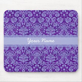 Custom Purple Damask Mouse Pad