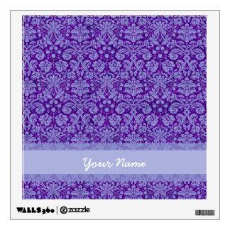 Custom Purple Damask Wall Decal