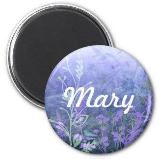 Custom Purple Floral Magnet