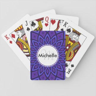 Custom Purple Kaleidoscope Pattern Deck Of Cards