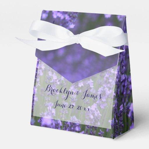 Custom Purple Lavender Wedding Favor Boxes Zazzle
