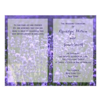 Custom Purple Lavender Wedding Programs Flyer