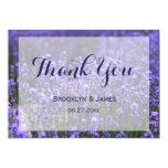 Custom Purple Lavender Wedding Thank You Card
