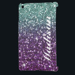 "Custom Purple ombre girly glitter Ipad Mini case<br><div class=""desc"">Custom Purple and aqua ombre girly glitter Ipad Mini case. Be a total Princess with these fun Ipad mini cases for the girly girl in you! Add your own text by clicking the customize menu button. Note this is a printed image.</div>"
