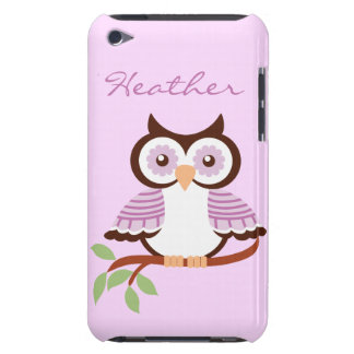Custom Purple Owl iPod Case-Mate Barely There Case-Mate iPod Touch Case