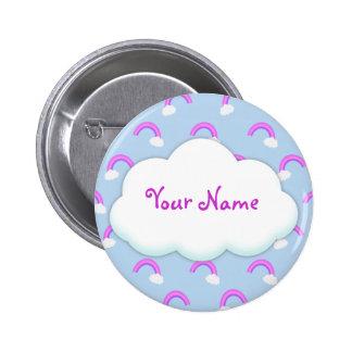 Custom Purple Rainbow Button Flair
