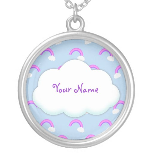 Custom Purple Rainbow Necklace