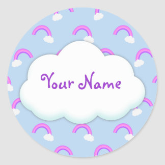 Custom Purple Rainbow Stickers
