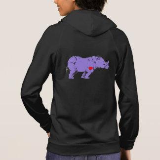 Custom Purple Rhino Early LGBT Activism Symbol Hoodie