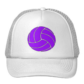 Custom Purple Volleyball Trucker Hat