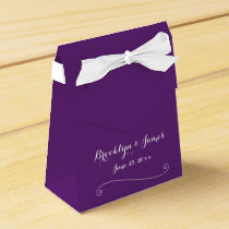 Custom Purple Wedding Favor Boxes Tent