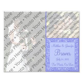 Custom Purple Wedding Photo Collage Print Art Photo