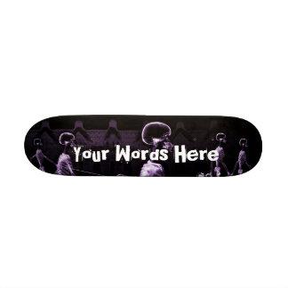 Custom Purple X-Ray Skeletons Midnight Stroll Skateboard