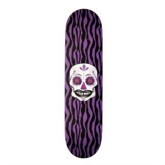 Custom Purple Zebra Print Purple Candy Skull Deck