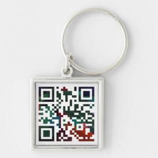 Custom Q R Code Keychain