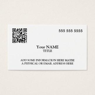 Custom QR Code Executive Business Card