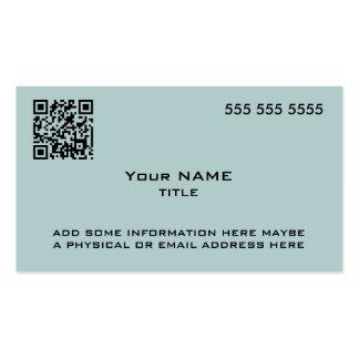Custom QR Code Modern Blue Business Card