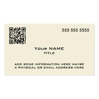 Custom QR Code Modern Bone Business Card