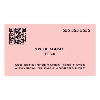 Custom QR Code Modern Pink Business Card