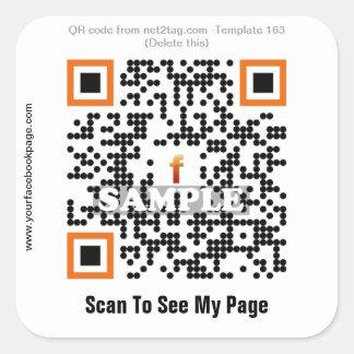 Custom QR code sticker QR code template 163