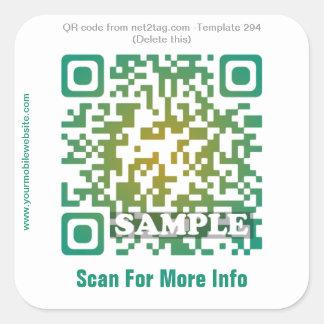 Custom QR code sticker (QR code template #294)