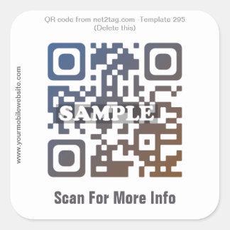 Custom QR code sticker (QR code template #295)