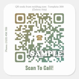 Custom QR code sticker (QR code template #300)