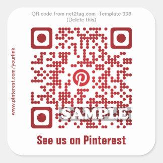 Custom QR code sticker (QR code template #338)