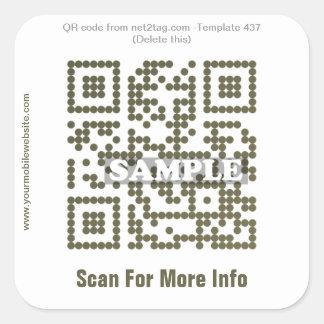 Custom QR code sticker (QR code template #437)