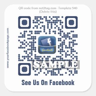 Custom QR code sticker QR code template 540