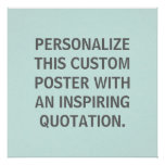 Custom Quote, Personalized, Spring Robins Egg Blue Print