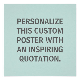 Custom Quote Personalized Spring Robins Egg Blue Print
