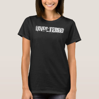 Custom Quote White Typography Black T-Shirt