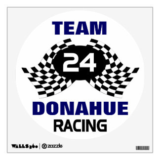 Custom Racing Family Wall Sticker