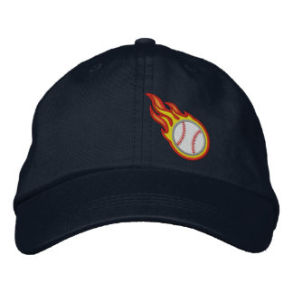 Custom Racing Flames Baseball Bullet Badge Cap