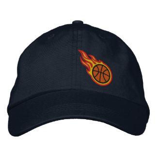 Custom Racing Flames Basketball Bullet Badge Embroidered Baseball Hat