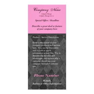 Custom Rack Card, Black and Pink Design, Printing Rack Card